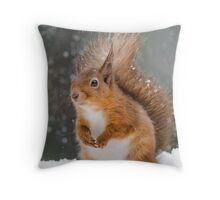 Cute Red Squirrel Throw Pillow