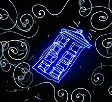 Dr Who Tardis painted with LED light by Brett  Bower