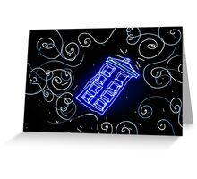 Dr Who Tardis painted with LED light Greeting Card