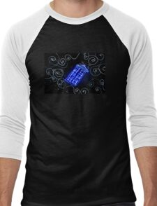Dr Who Tardis painted with LED light Men's Baseball ¾ T-Shirt