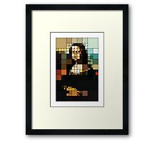 Monalisa Pixelated Framed Print