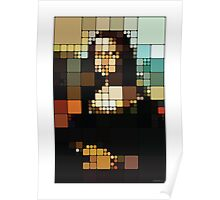 Monalisa Pixelated Poster