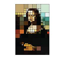 Monalisa Pixelated Photographic Print