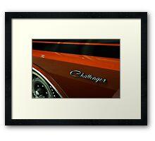 Dodge Challenger Script Framed Print