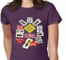 NOT A THROUGH STREET Womens Fitted T-Shirt