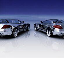 Mercedes 3D Render by Bruno Beach