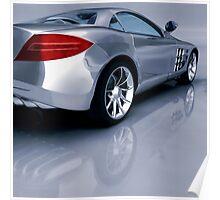Mercedes 3D Render Poster