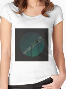 If I sit still..... Women's Fitted Scoop T-Shirt