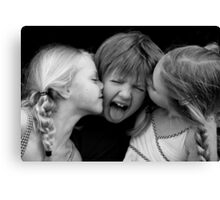 Unwanted Kisses Canvas Print