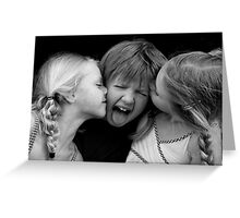 Unwanted Kisses Greeting Card