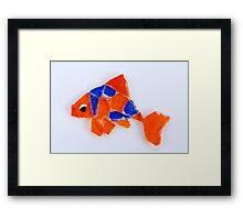 Freddie the Goldfish Framed Print