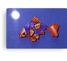 Freddie the Goldfish by Moonlight Canvas Print