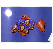 Freddie the Goldfish by Moonlight Poster