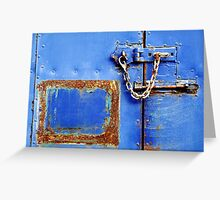 Lock, Stock and a rusty rectangle Greeting Card