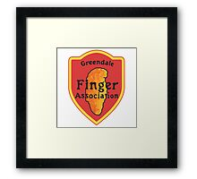 Greendale Finger Association Framed Print