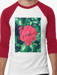Beautiful Red Flower  Men's Baseball ¾ T-Shirt