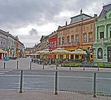Street Scene, Novi Sad, Serbia by Margaret  Hyde