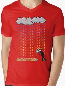 Pixel Rain Mens V-Neck T-Shirt