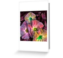 V FLOWER Greeting Card