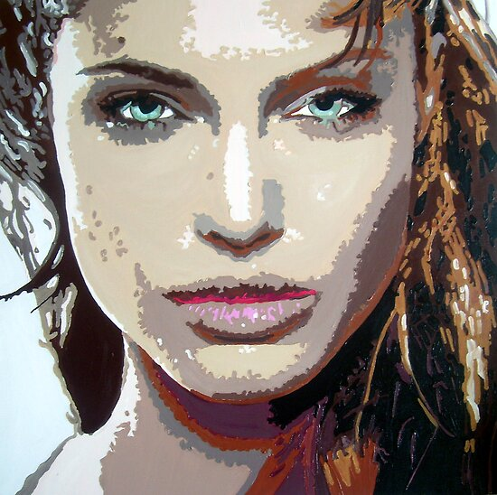 Angelina Jolie in pop art by db artstudio by Deborah Boyle