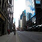 Looking up Yonge Street at dusk by MarianBendeth