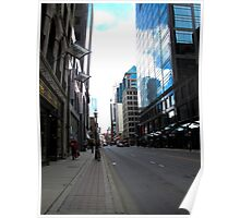 Looking up Yonge Street at dusk Poster