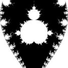 Inverted & Mandelbrot Monochrome by Rupert  Russell