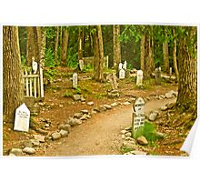Gold Rush Cemetery Poster