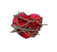 Barbed Wire Heart Photographic Print