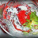 Strawberry Splash 1 by Hazel Dean