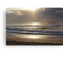 A beach Sunrise Canvas Print