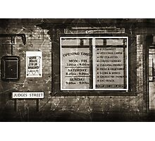 The News On Judges Street Photographic Print