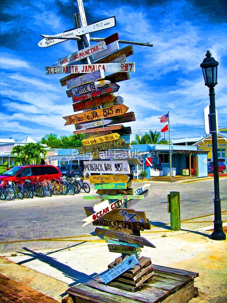 All Roads Lead To Key West by Randall Faulkner