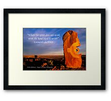 Spirit - Sculpture at Sunrise Framed Print