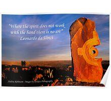 Spirit - Sculpture at Sunrise Poster