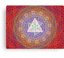 sacred triangles Canvas Print
