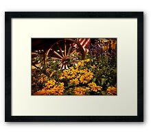 Philadelphia Flower Show. Garden. Framed Print