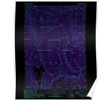 USGS Topo Map Oregon Crane Prairie 279495 1990 24000 Inverted Poster
