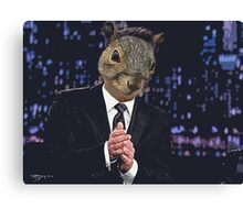 Jimmy Squirrel Canvas Print