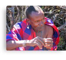 Masaii chief Canvas Print