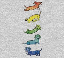 Watercolor Dachshunds Kids Clothes