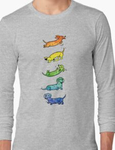 Watercolor Dachshunds Long Sleeve T-Shirt