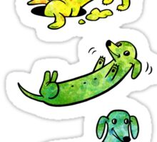 Watercolor Dachshunds Sticker