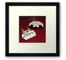 Totoro and panda origami Framed Print