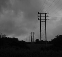 Power lines by DEB VINCENT