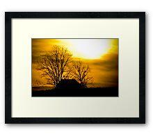 Golden Sunset - Edgefield, SC Framed Print