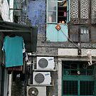 Urban Life in Macau - backstreet access by Francisco Vasconcellos