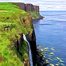 Kilt Rock on Isle of Skye by Randall Faulkner
