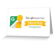 Google Maps | Street View | Trusted Photographer Greeting Card