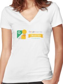 Google Maps | Street View | Trusted Photographer Women's Fitted V-Neck T-Shirt